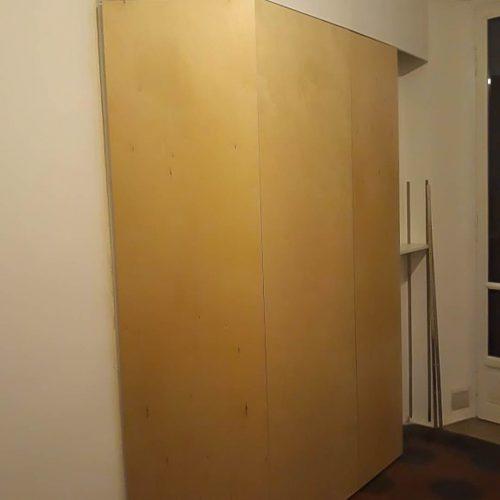 parete in legno esterno